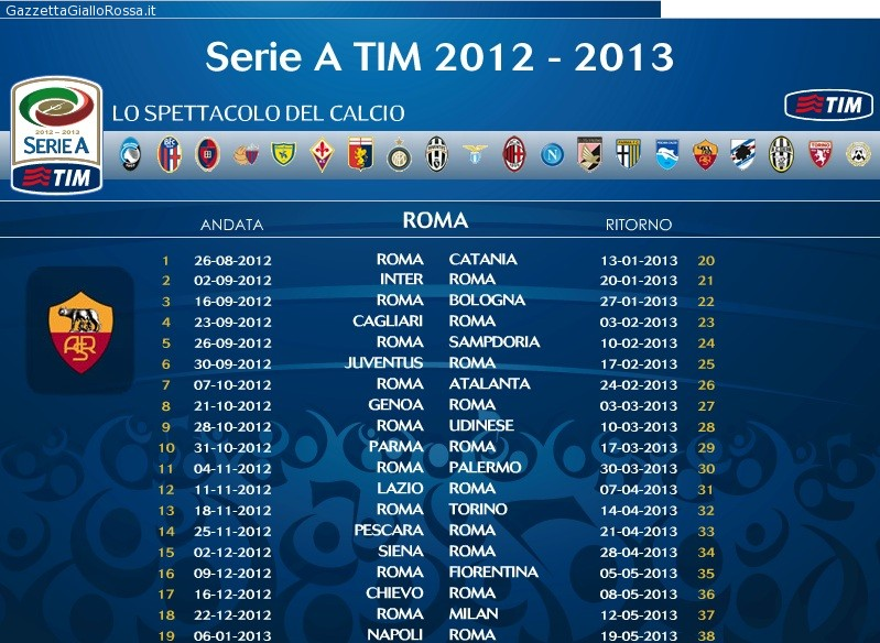 Roma Calendario Serie A.Video Clip Il Calendario Della Roma Presentato Dai Gol Di
