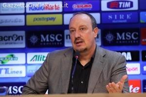 Il tecnico del Napoli Rafael Benitez