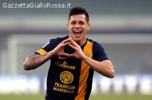 Iturbe festeggia il gol alla Lazio