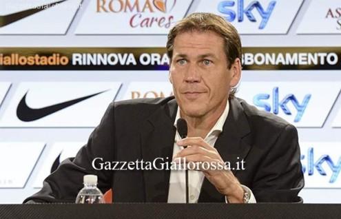 Rudi Garcia in conferenza stampa