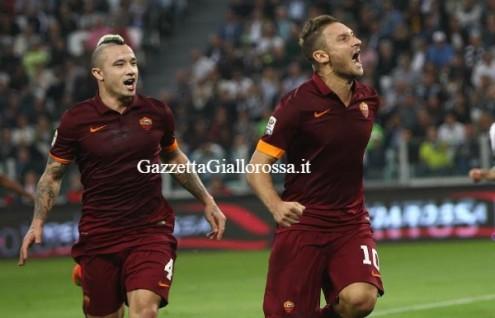 Juventus-Roma esultanza Totti