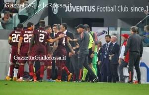 Juventus-Roma proteste