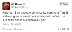 Pallotta risponde a Lotito
