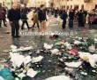 L'immondizia a Piazza di Spagna dai tifosi del Feyenoord