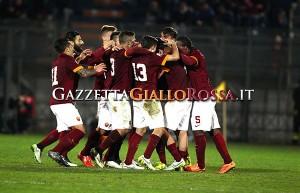 Primavera Roma-Manchester City esultanza