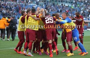 Lazio-Roma esultanza