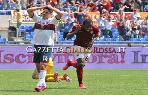 Roma-Genoa gol Doumbia