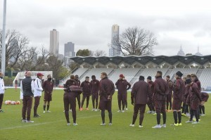 Roma in campo al Lakeside Stadium (foto asroma.it)