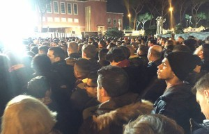 Roma-Real Madrid fila fuori lo stadio