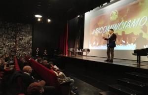 Il presidente Campanile parla alla riunione di MyRoma
