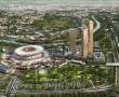 Veduta aerea del progetto dello Stadio della Roma