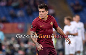 Juan Manuel Iturbe of Roma during the UEFA Europa League match between Roma and Viktoria Plzen at Stadio Olimpico, Rome, Italy on 24 November 2016. (Photo by Giuseppe Maffia/NurPhoto via Getty Images)