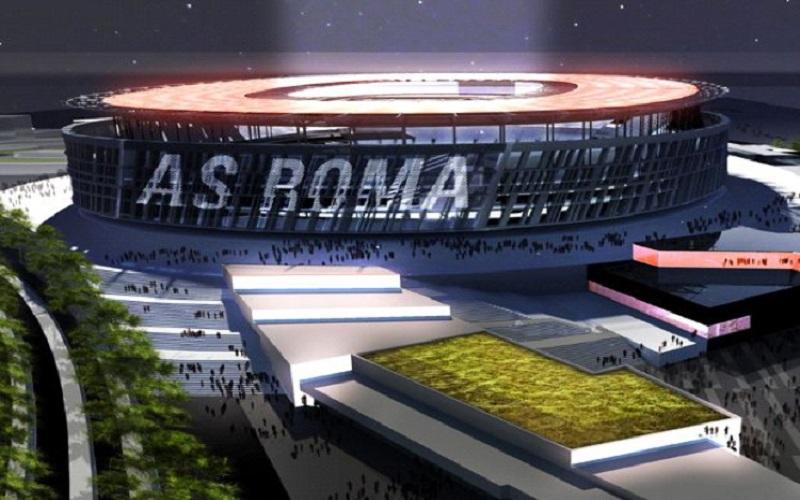Taglio delle cubature sullo stadio della Roma