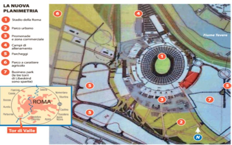 AS Roma, la giunta capitolina ok allo stadio a Tor di Valle