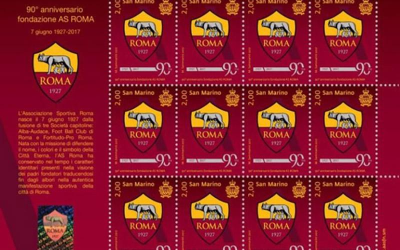 Francobollo 90 anni As Roma
