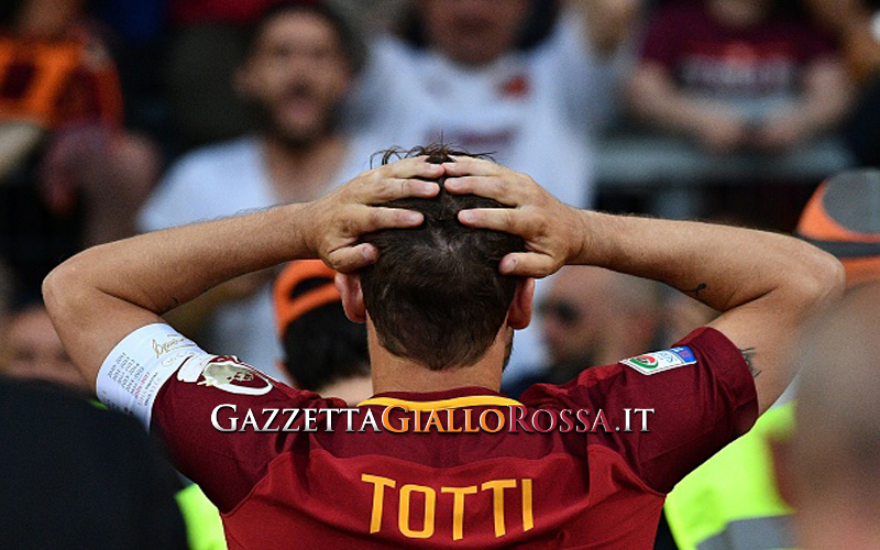 Il gesto di Ialry Blasi dopo l'addio di Totti