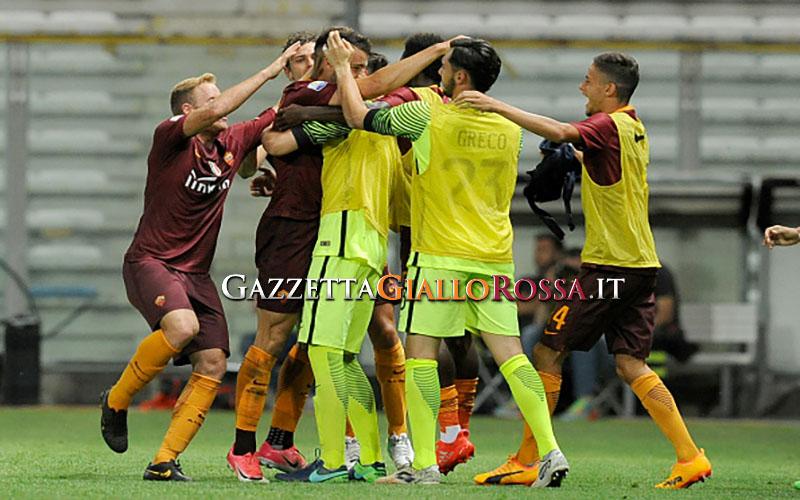 Primavera Roma-Lazio esultanza