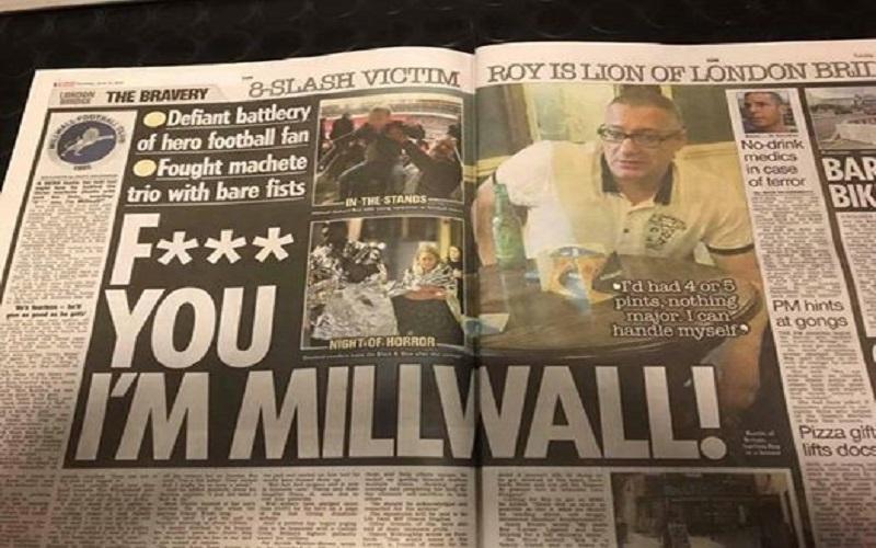 Roy Larner, ultrà-eroe del Millwall: ha affrontato i terroristi a mani nude