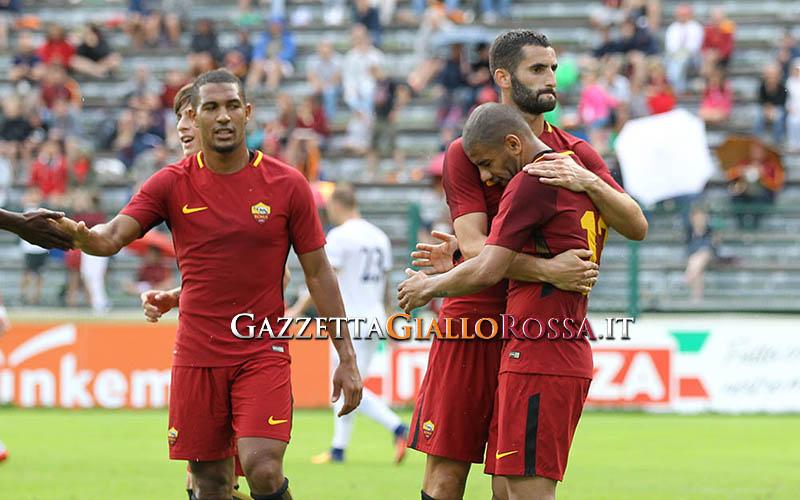 Roma-Slovacko esultanza gol Sadiq