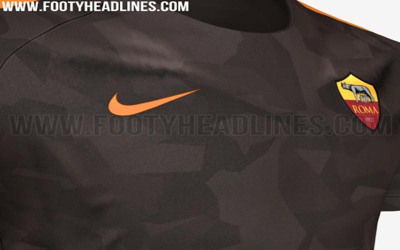 765d6c2825 La terza divisa giallorossa sarà di color marrone scuro con fantasia  camouflage e avrà i bordi color arancione, tonalità che nelle altre maglie  ha lasciato ...