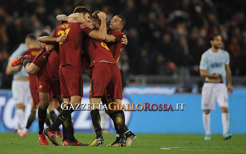 Roma-Lazio esultanza
