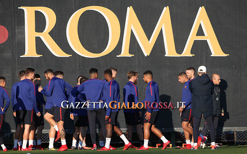 Trigoria Roma in allenamento
