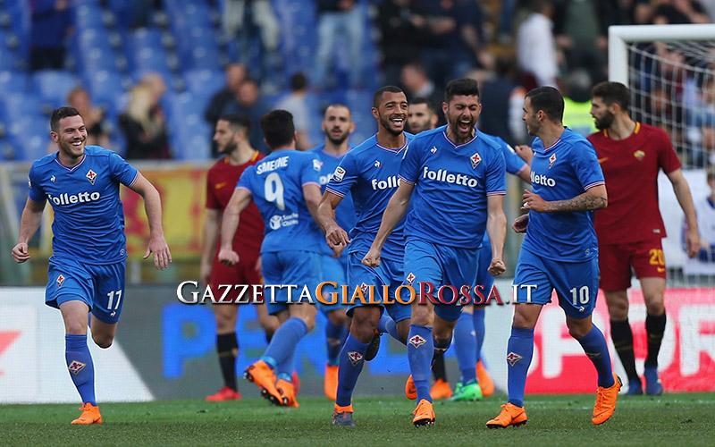 Benassi-Simeone: Fiorentina avanti a Roma al 45′. SPAL ok