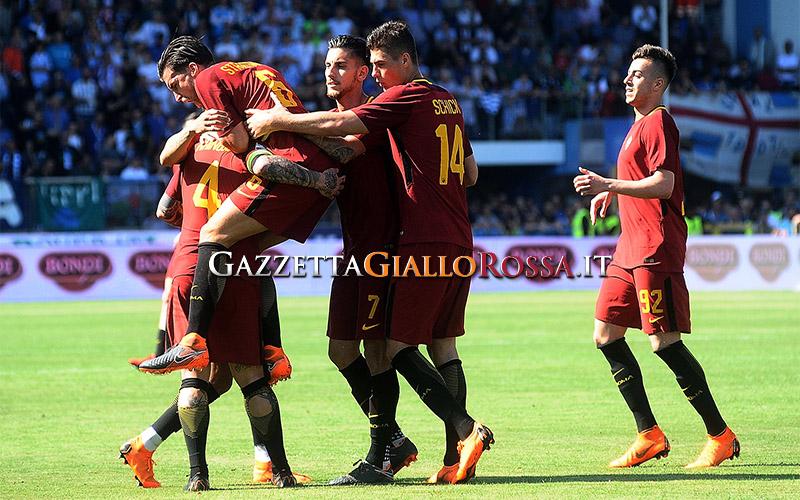 Spal-Roma esultanza Roma