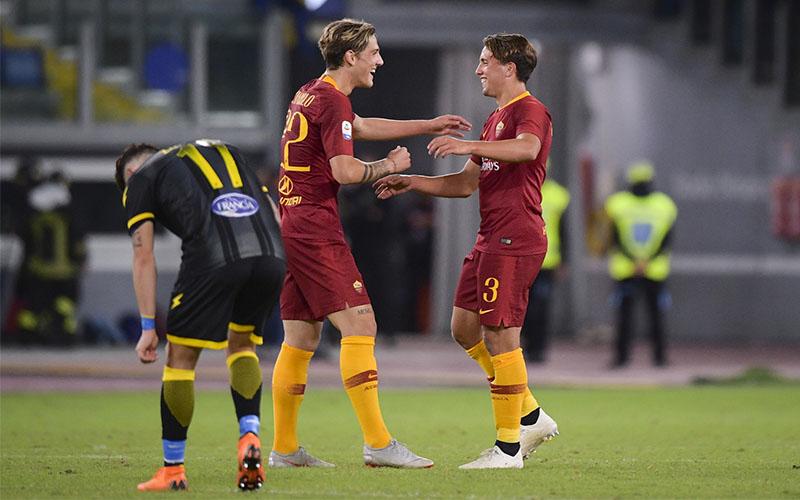 Zaniolo e Luca Pellegrini